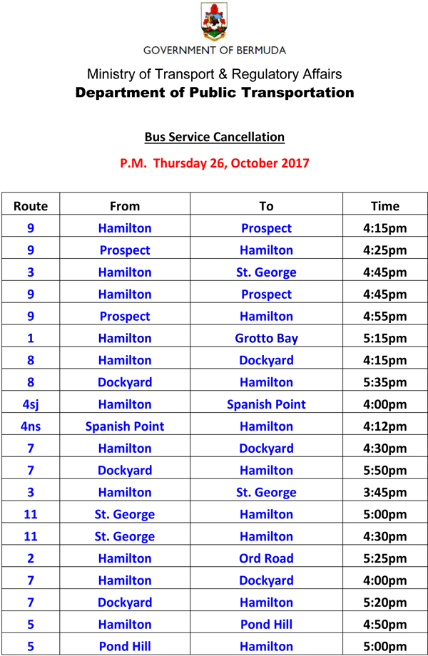 Bus Service Cancellations Thursday 26-10-2017-1