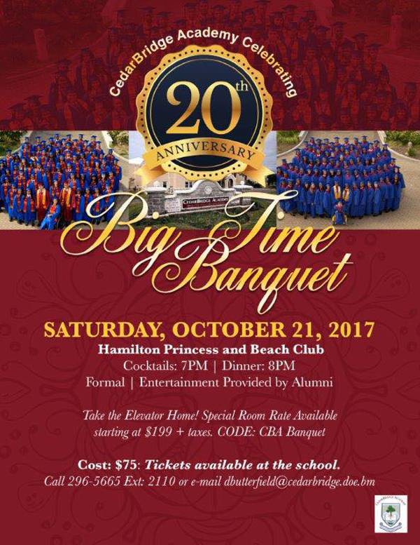 CBA's Big Time Banquet Bermuda Oct 2017
