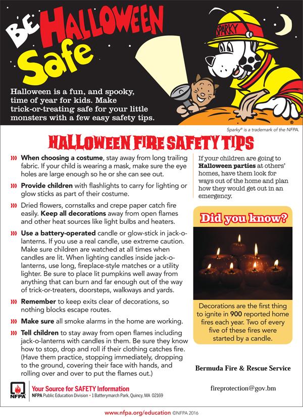 Halloween Safety Tips Bermuda Oct 2017
