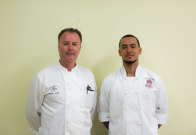POP Chef Edmund Smith and Tyrone Pedro Bermuda Oct 9 2017