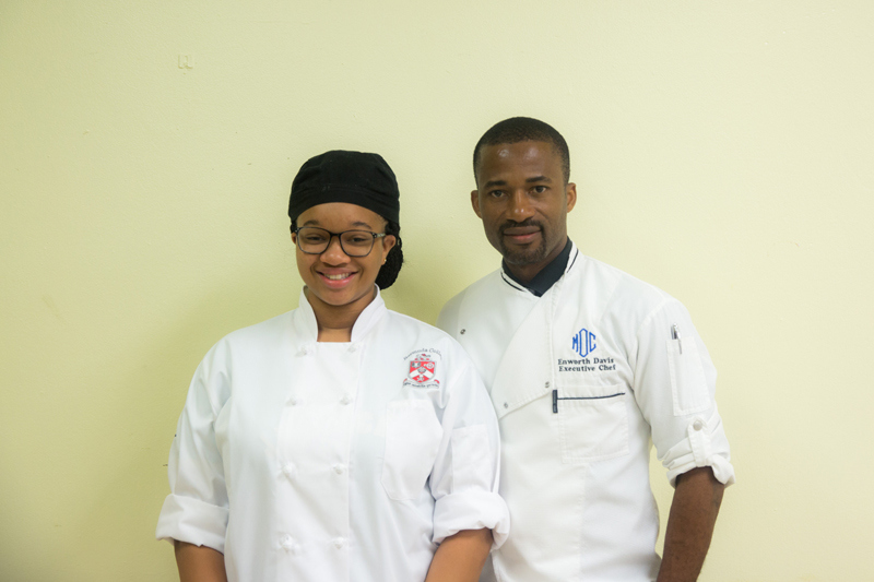 POP Executive Chef Enworth Davis & Riona Buckle Bermuda Oct 2017