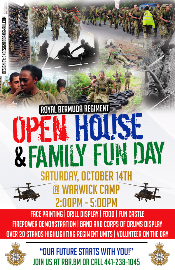 Regiment Open House Flyer Bermuda October 12 2017