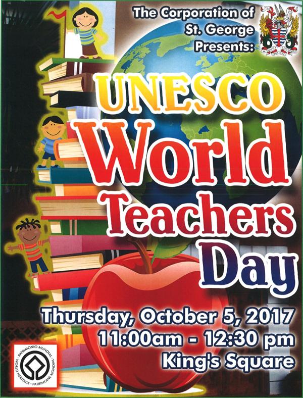 UNESCO World Teachers Day Bermuda Oct 2017