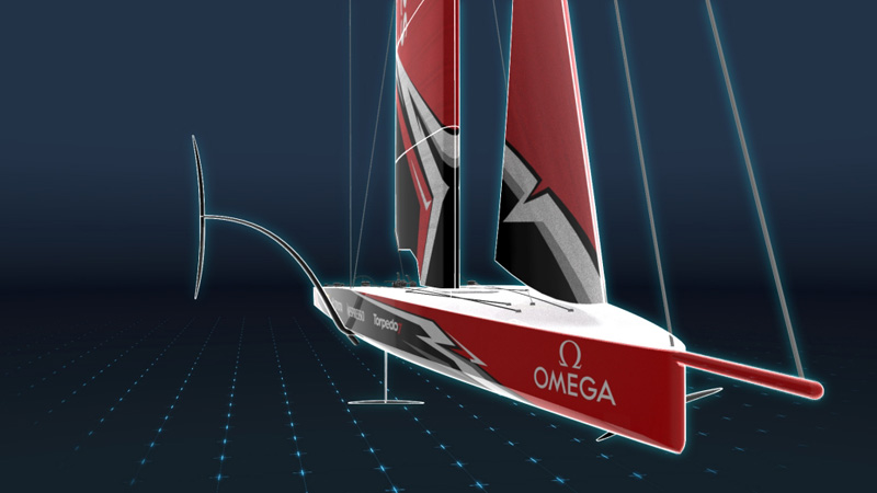 21/11/17- The 36th America's Cup class boat concept of the AC75.