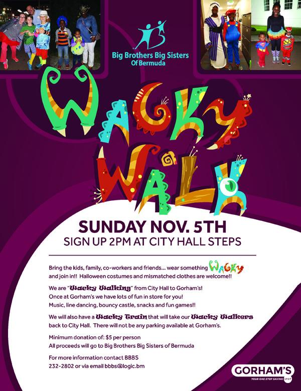 BBBS Wacky Walk Bermuda Nov 2017