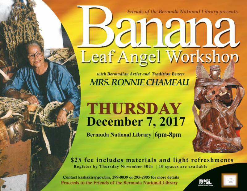 Banana Leaf Angel Workshop Bermuda Dec 2017