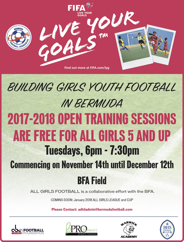 Building Girls Football Bermuda Nov 2017