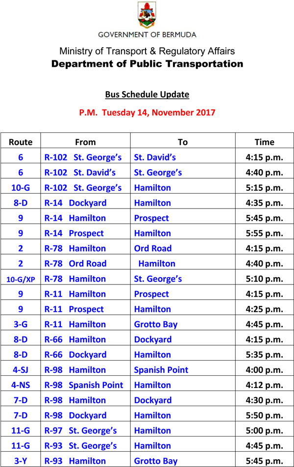 Bus Scheduel Update Tuesday 14 November 2017-1