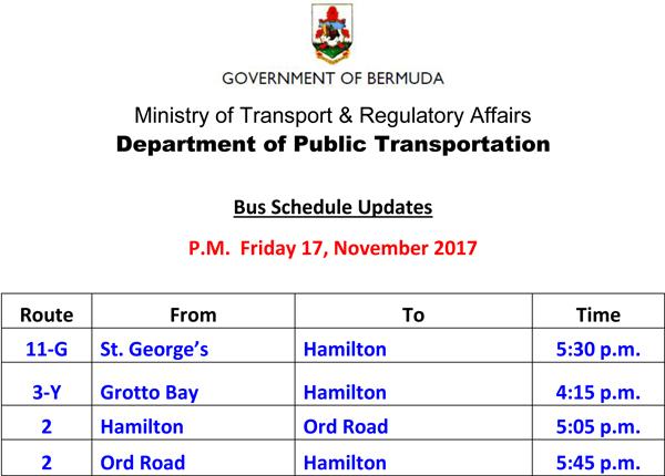 Bus Schedule Updates Friday 17-11-2017-3