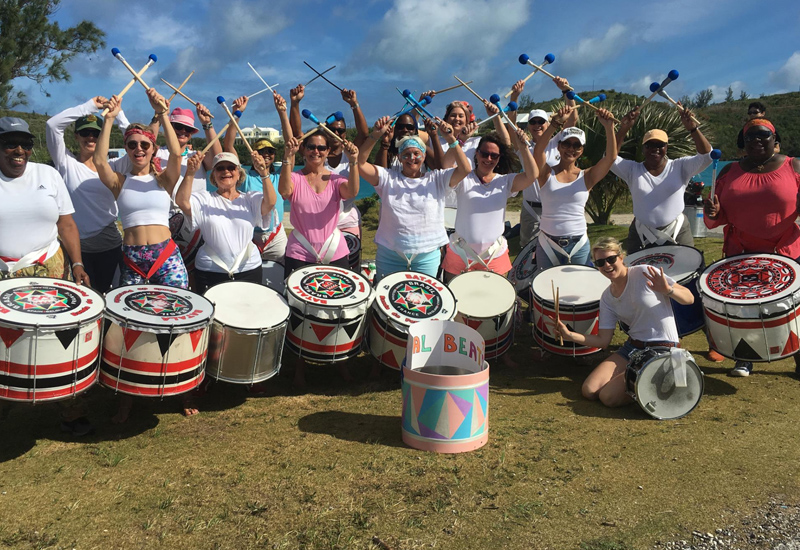 Coral Beats drum band Bermuda Nov 2017