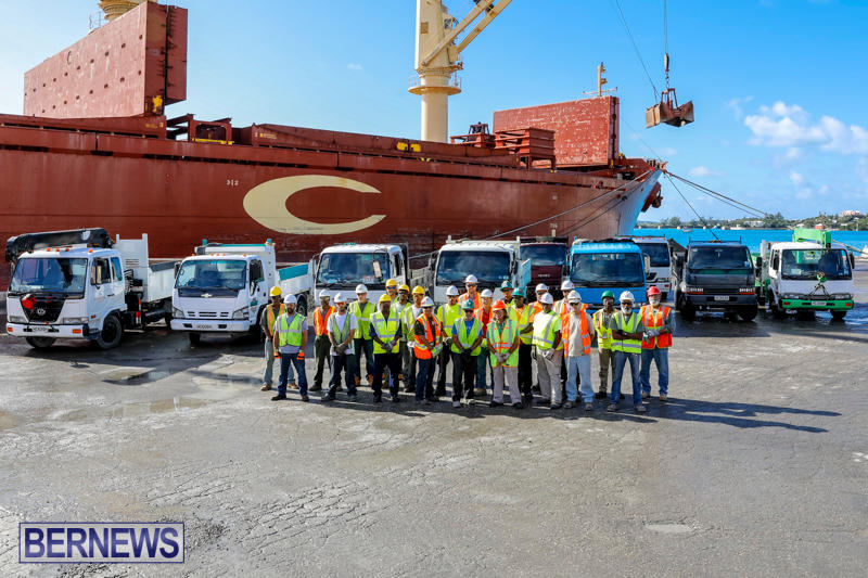 Correia Construction Airport Aggregate Trucks Bermuda, November 3 2017_9618