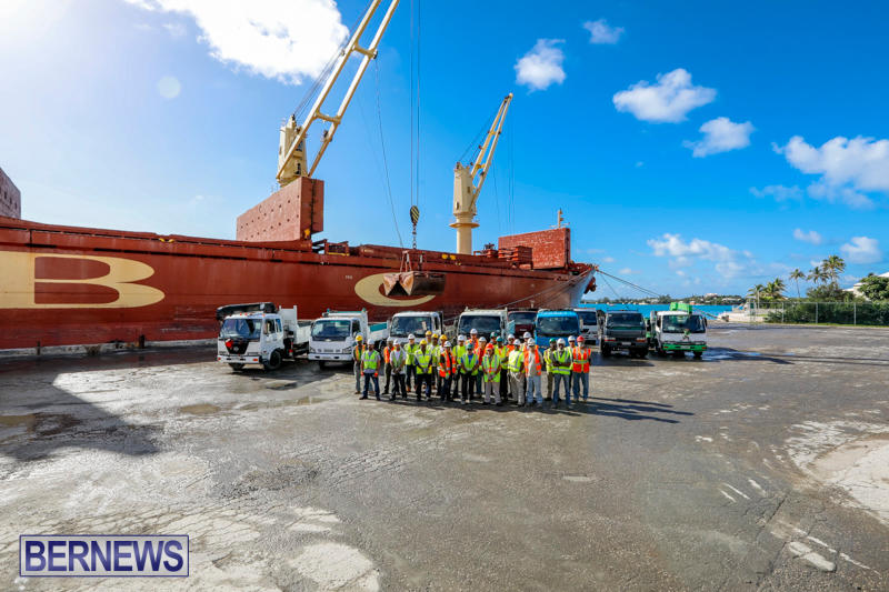 Correia Construction Airport Aggregate Trucks Bermuda, November 3 2017_9631