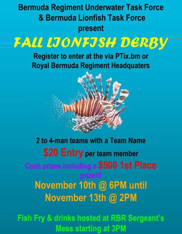 Lionfish Derby Bermuda Nov 9 2017