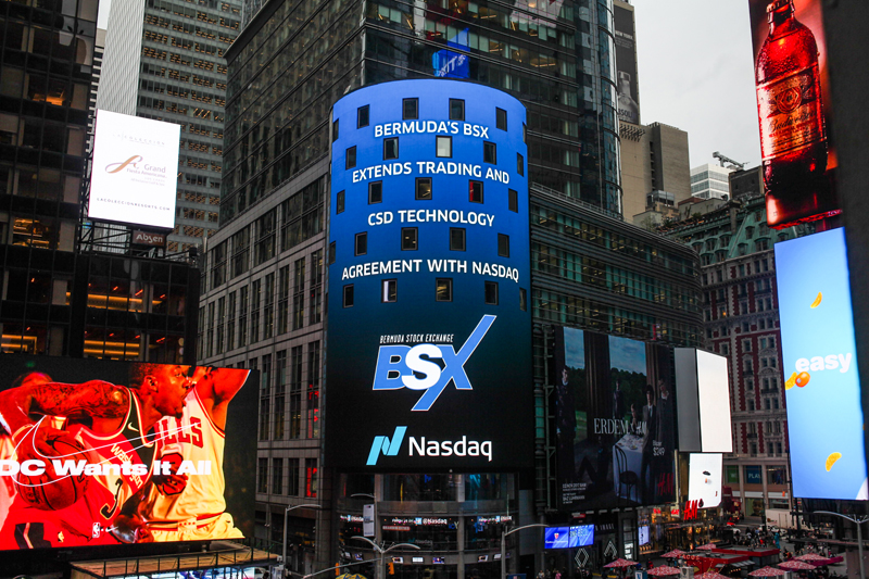 Nasdaq & BSX New Market Technology Agreement Bermuda Nov 1 2017