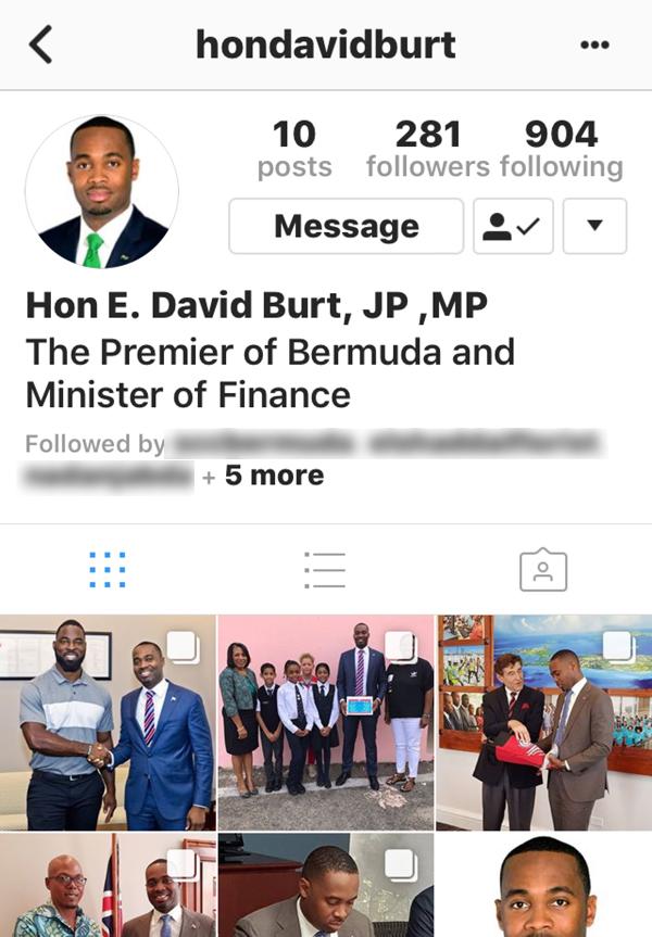 Premier-Burt-Instagram-account-Bermuda-Nov-2017 2