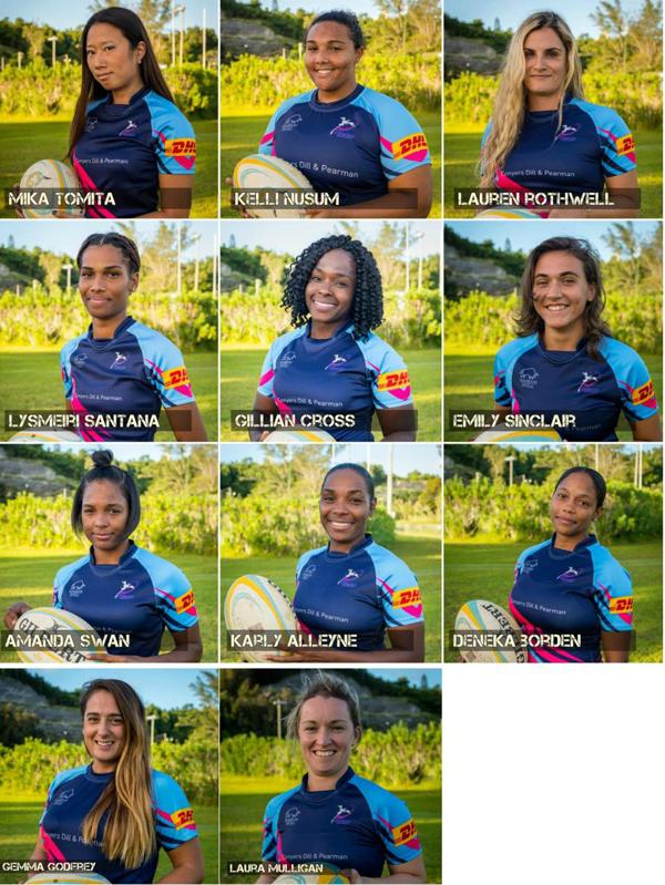 Women's 7's Squad Bermuda Nov 23 2017