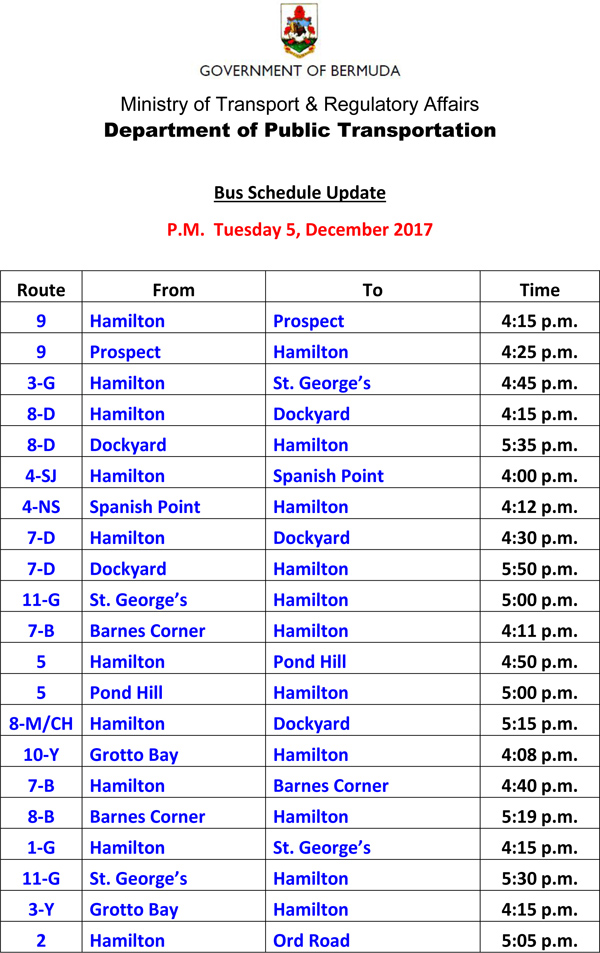 Bus Scheduel Update Tuesday 5 December 2017-1
