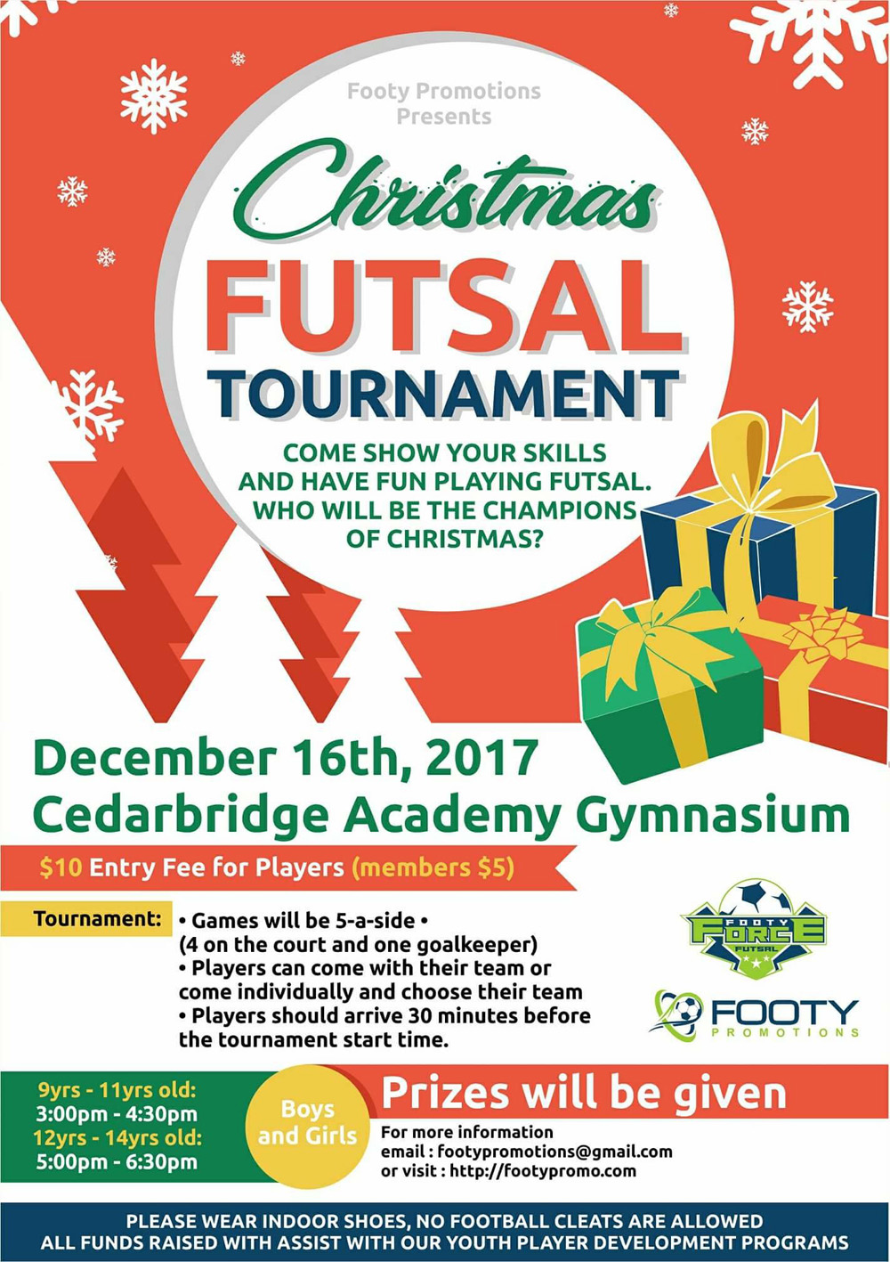 Christmas Futsal Tournament Bermuda Dec 7 2017