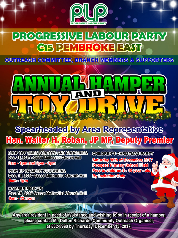 Hamper and toy drive Bermuda Dec 2017