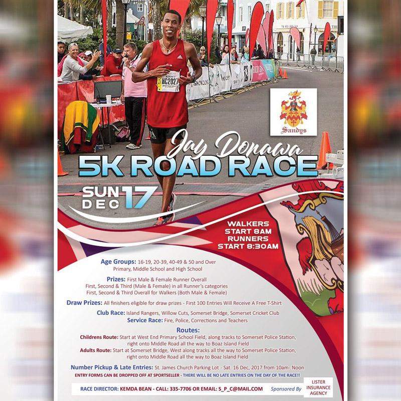 Jay Donawa Road Race Bermuda Dec 2017