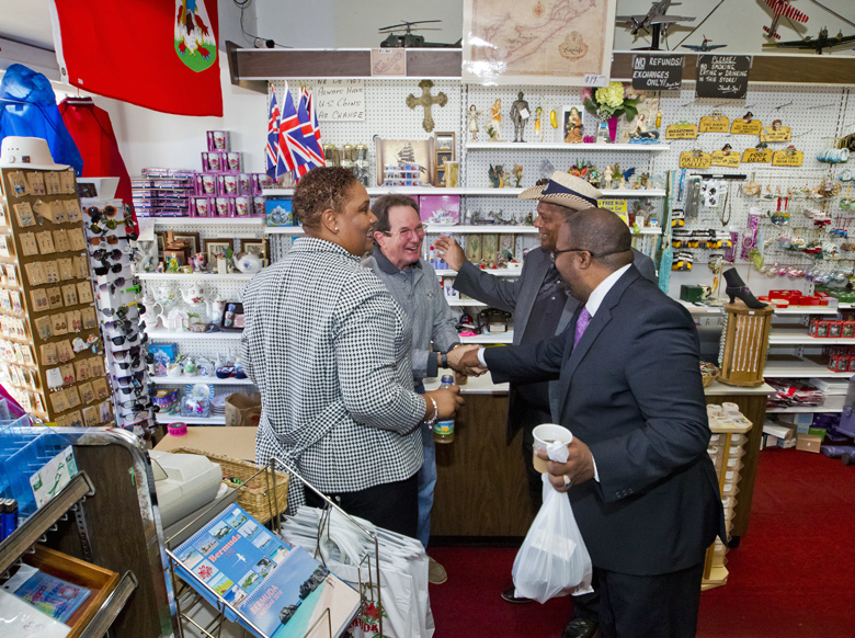 Minister & MPs visit St Georges businesses Bermuda Dec 2017 (7)