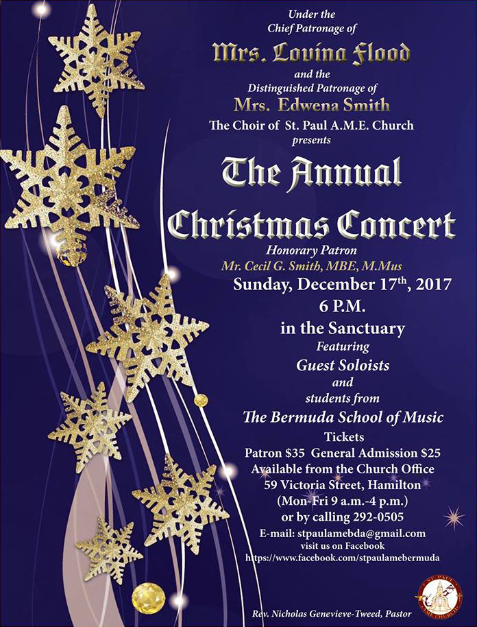St Paul AME Christmas Concert Bermuda Dec 2017