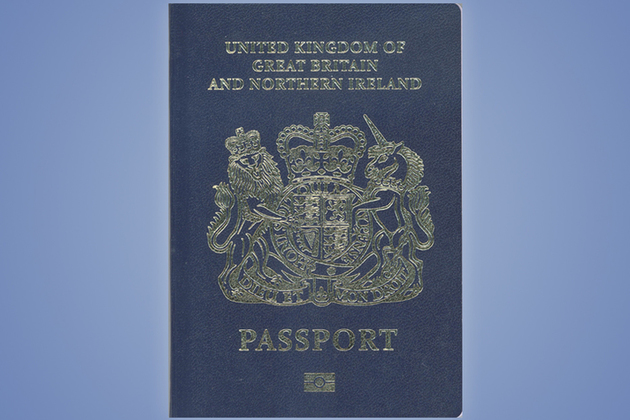 UK Blue Passport Dec 2017