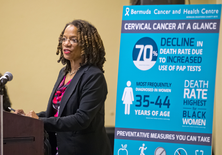 Minister Kim Wilson Cervical Health Awareness Month Bermuda Jan 29 2018