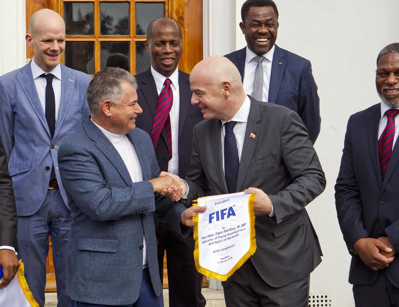 Premier meets FIFA President Bermuda Jan 17 2018 (5)
