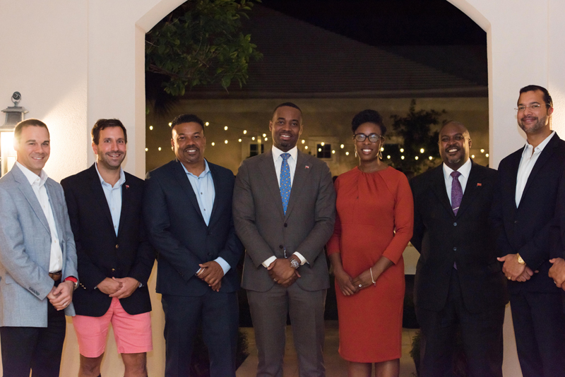 Premier with group at Rosewood Bermuda Jan 2018