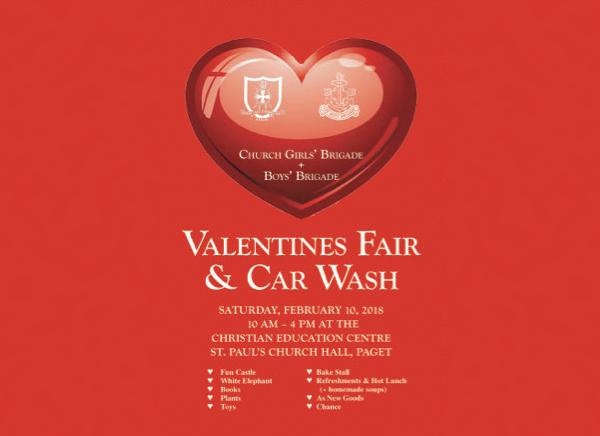 Valentines Fair and Car Wash Bermuda Feb 2018