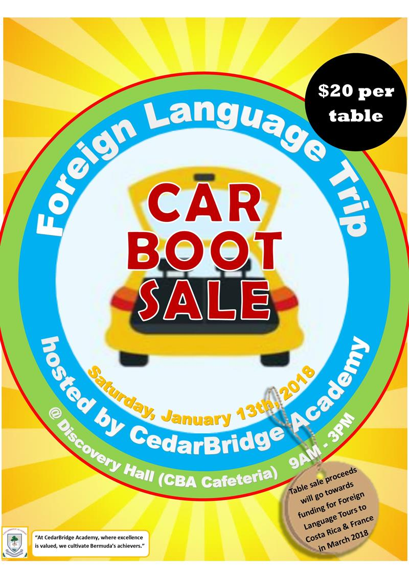 carboot sale poster