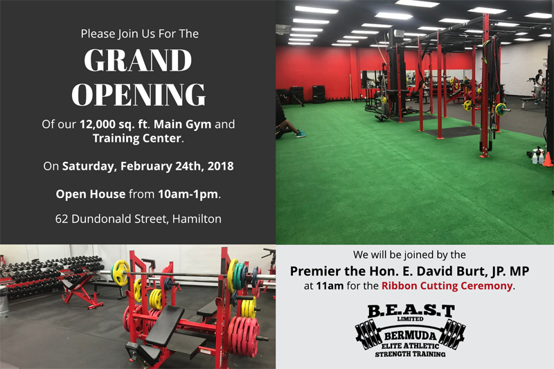 BEAST Grand Opening Bermuda Feb 20 2018