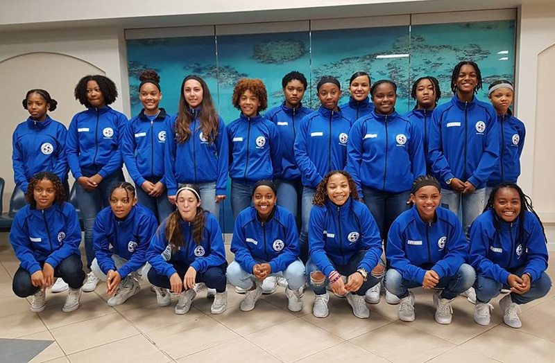 Bermuda's Women's Under 17 Team and staff Feb 2018