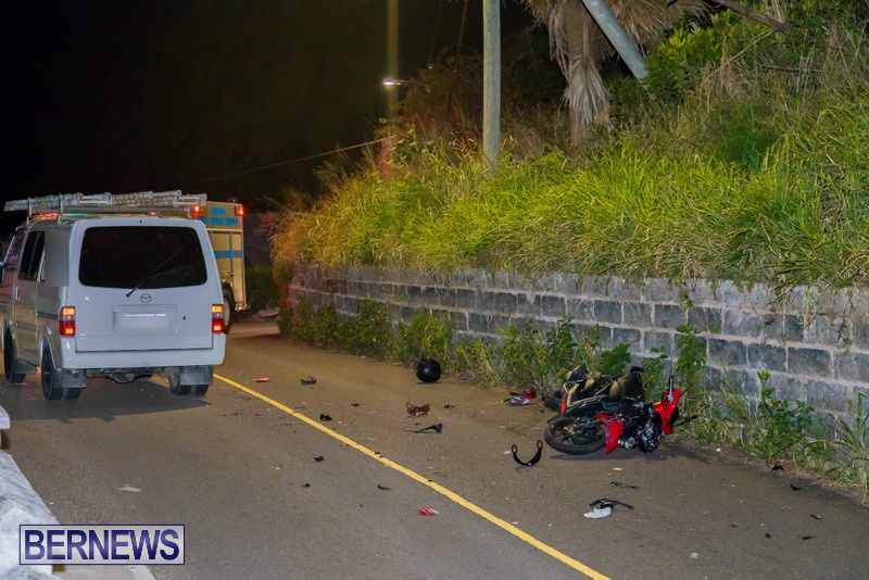 Bike Van Collision Camp Road Bermuda, February 28 2018 (5)