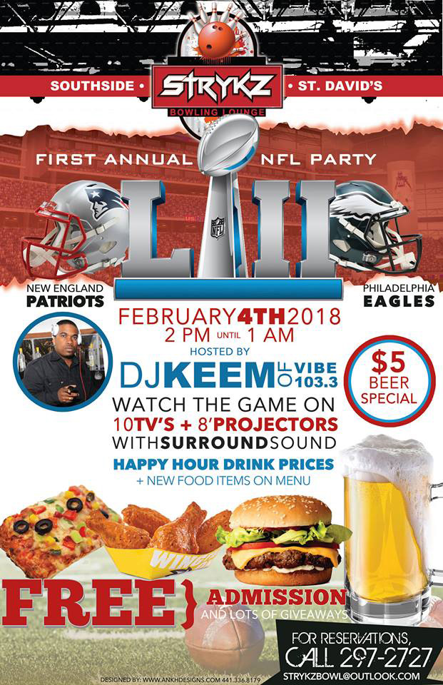 First Annual SuperBowl Party Bermuda Feb 2018