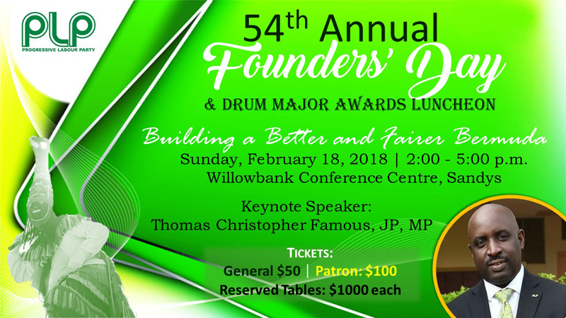 Founders' Day 2018 Bermuda Feb 12