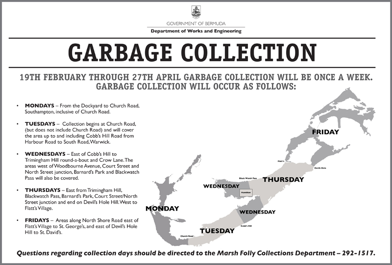 Garbage Collection Bermuda Feb 2018