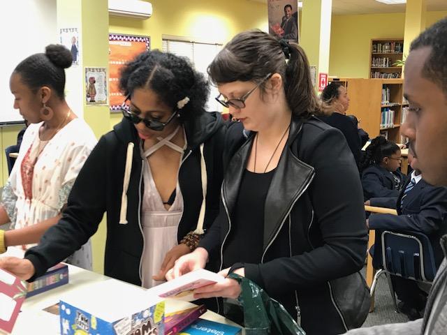 Hamilton Princess donates books to Clearwater Middle School Bermuda Feb 28 2018 (2)