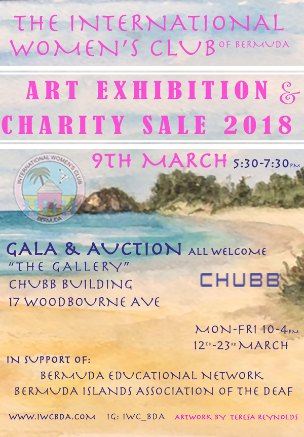 IWC Art Exhibit Bermuda Feb 2018