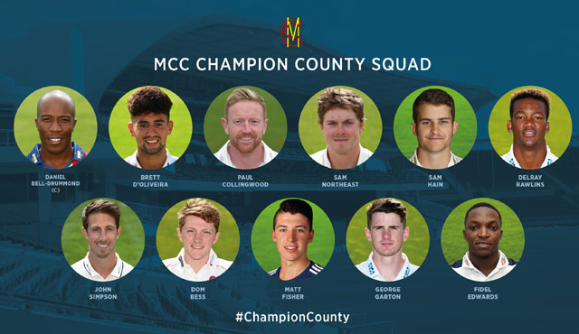 MCC Champion County Squad Bermuda Feb 1 2018
