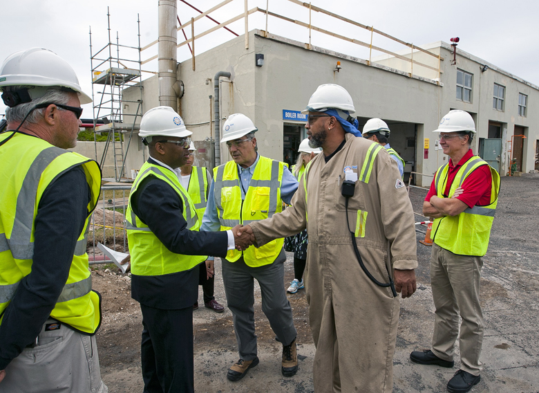 Minister Walter Roban Tours Fuel Plant Bermuda Feb 7 2018 (1)