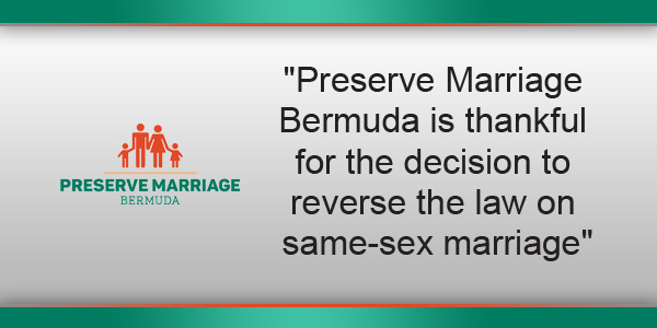Preserve Marriage Bermuda TC Feb 9 2018