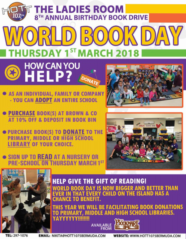 World Book Day Bermuda Feb 2018