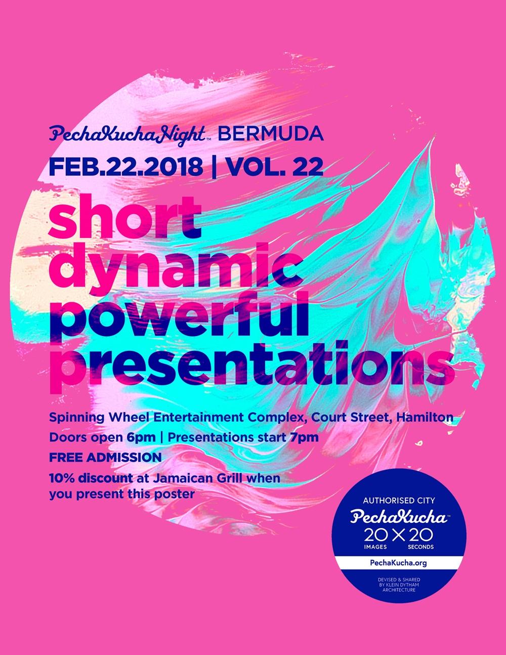 pechakucha Bermuda Feb 21 2018