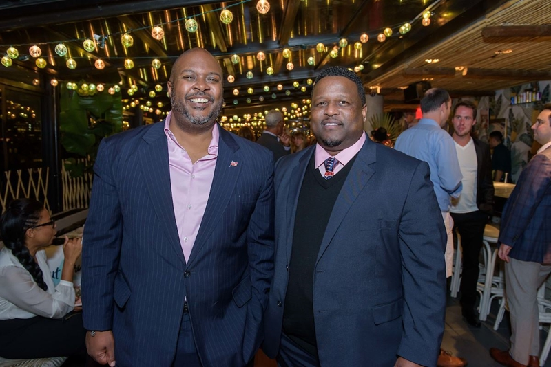 Bermuda Tourism Authority Lunches - Minister Simmons & Earlston Dill of BTA
