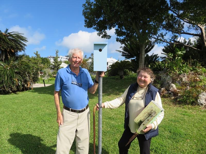 Bluebird boxes for Botanical Gardens