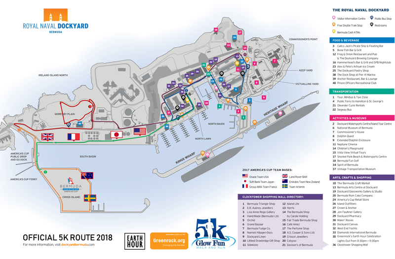 Earth Hour 5K Route Bermuda March 2018