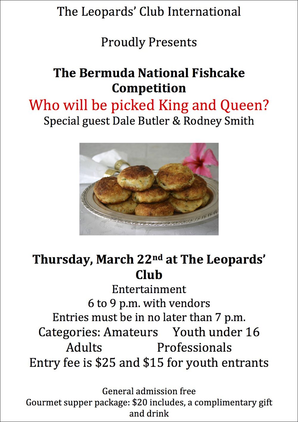 Fishcake Bermuda March 2 2018