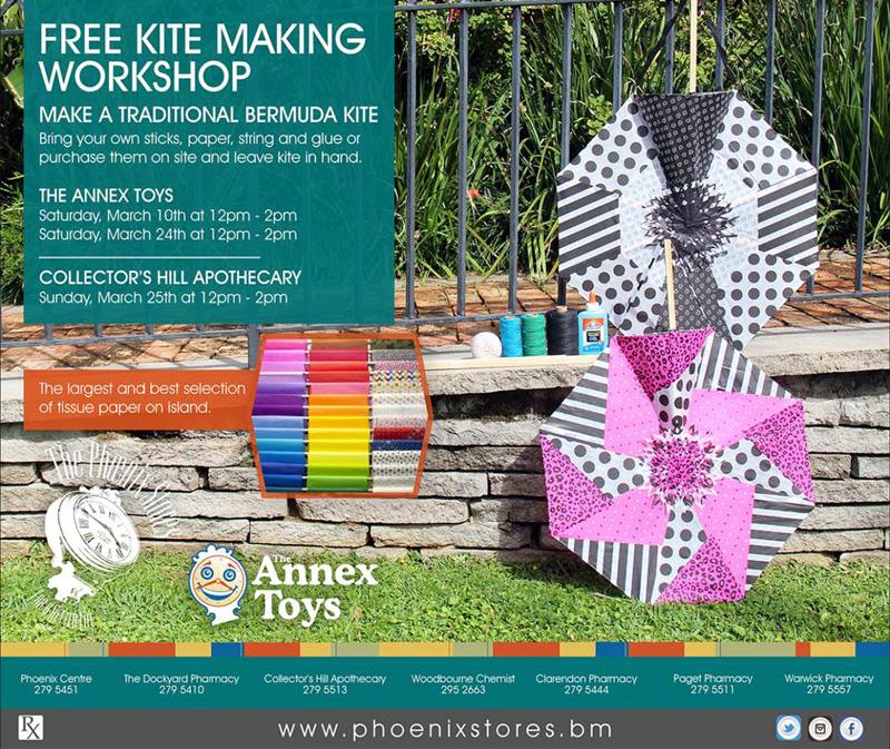 Free Kite Making Workshop Bermuda March 2018